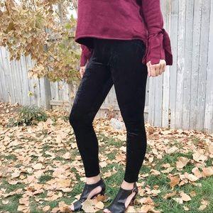 Pants - Black Velvet Leggings